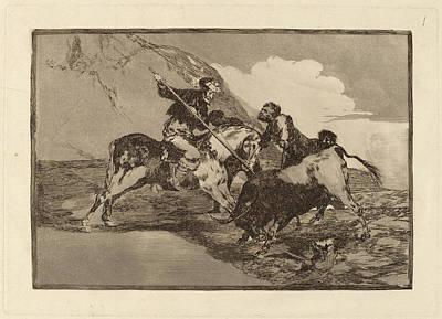 Impression Drawing - Francisco De Goya, Modo Con Que Los Antiguos Espanoles by Quint Lox