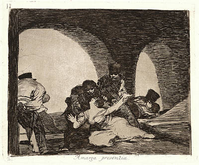 Francisco De Goya Spanish, 1746-1828. Bitter To Be Present Art Print
