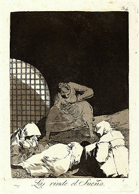 Overcoming Drawing - Francisco De Goya Spanish, 1746-1828. Las Rinde El Sueño by Litz Collection