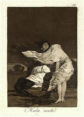 Francisco De Goya Spanish, 1746-1828. Mala Noche. A Bad Art Print by Litz Collection