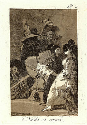 Nobody Drawing - Francisco De Goya Spanish, 1746-1828. Nadie Se Conoce by Litz Collection
