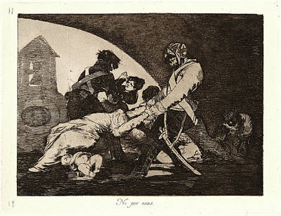 Francisco De Goya Spanish, 1746-1828. Neither Do These Ni Art Print by Litz Collection
