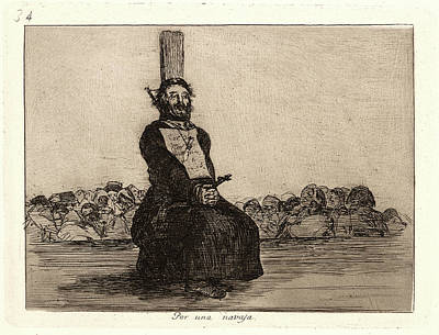 Francisco De Goya Spanish, 1746-1828. On Account Of A Knife Art Print by Litz Collection