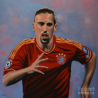 Action Portrait Painting - Franck Ribery by Paul Meijering
