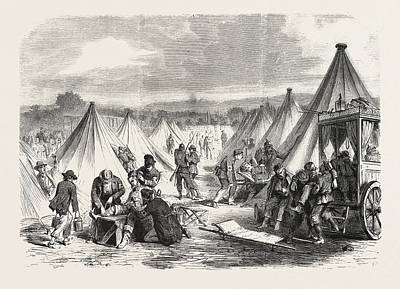 Franco-prussian War Camp Of Mac Mahon Converted To An Art Print by French School