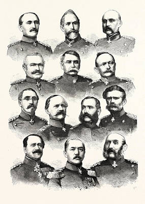 3rd Corps Drawing - Franco-prussian War German Commanders Alvensleben by French School