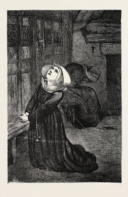 Prayer Drawing - Franco-prussian War Prayers For Peace by English School