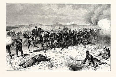 Franco-prussian War Prussian Guard At The Battle Of Sedan Art Print