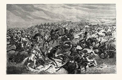 Franco-prussian War Drawing - Franco-prussian War Rapid Fire Of The Prussian Infantry by French School