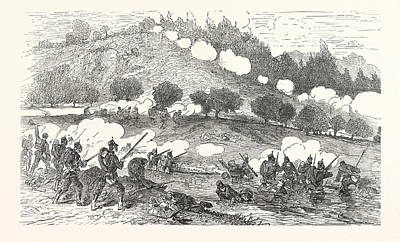 Franco-prussian War Drawing - Franco-prussian War The 11th Prussian Infantry Battalion by German School