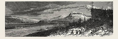 Le Plateau Drawing - Franco-prussian War The French Position On 21 December 1870 by French School