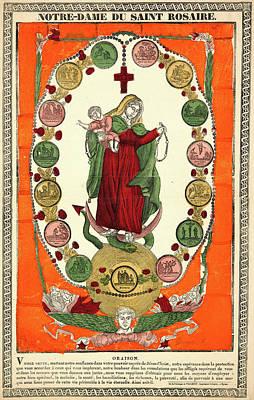 Franc¸ois Georgin French, 1801 - 1863. Notre Dame Du Saint Art Print