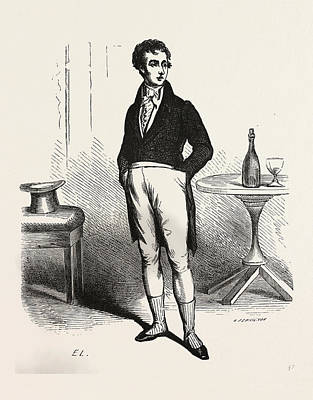 Glass Bottle Drawing - Francois Picaud, Alexandr Dumas, 19th Century, Liszt by English School