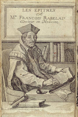 Clergy Photograph - Francois Rabelais by British Library