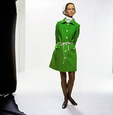 Photograph - Francoise Rubartelli Wearing An Originala Coat by Bert Stern