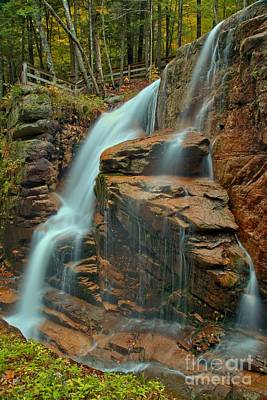 Photograph - Franconia Notch Avalanche Falls by Adam Jewell