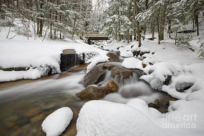 Covered Bridge Photograph - Franconia Notch State Park - White Mountains New Hampshire Usa - Flume Gorge by Erin Paul Donovan