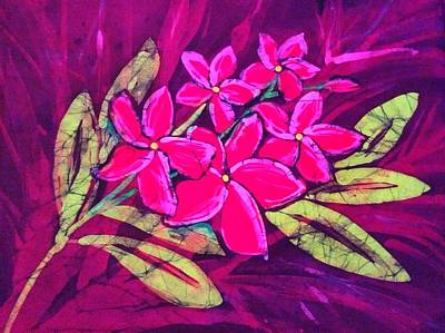 Tapestry - Textile - Frangipani by Kay Shaffer