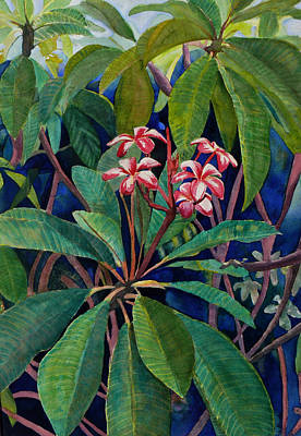 Floral Guest Room Painting - Frangipani by Susan Duda