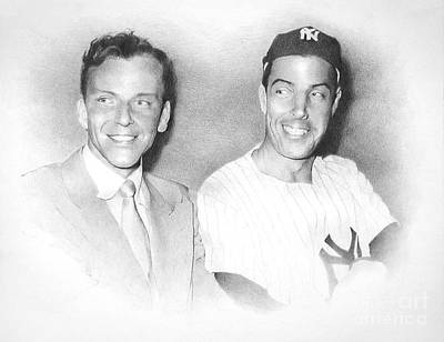 Sports Figures Drawing - Frank And Joe by TPD Art