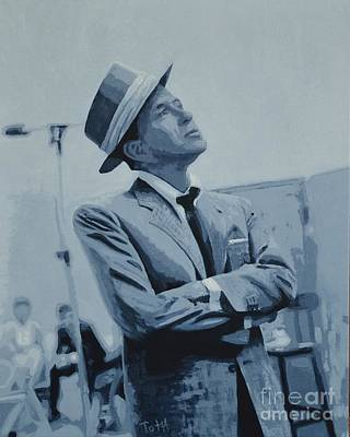 Painting - Frank Black And White by Laura Toth