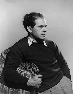Photograph - Frank Capra By A Chair by Alfredo Valente