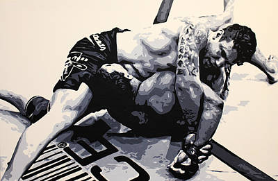 Painting - Frank Mir V Big Nog by Geo Thomson