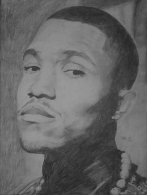 Frank Ocean Drawings Drawing - Frank Ocean by Milton  Gore