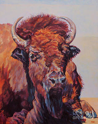 Yellowstone Painting - Frank by Patricia A Griffin