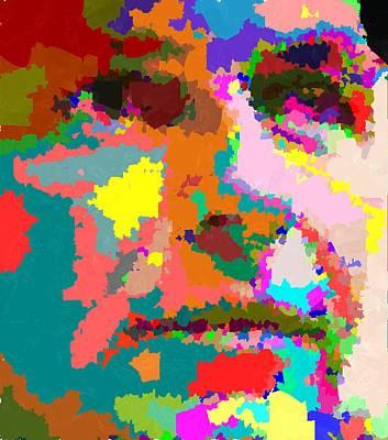 Painting - Frank Sinatra - Abstract by Samuel Majcen