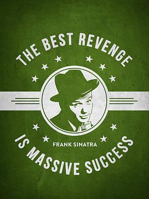 Frank Sinatra - Green Art Print