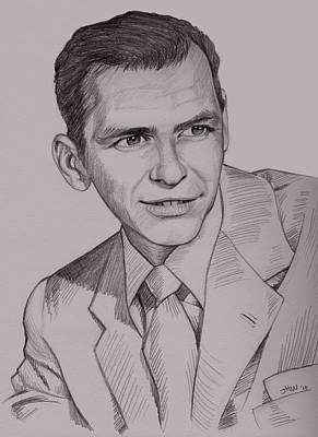 Drawing - Frank Sinatra by Jennifer Hotai