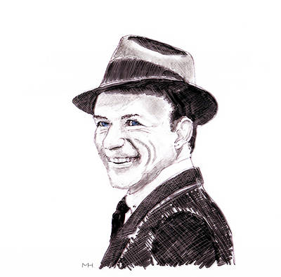 Drawing - Frank Sinatra by Martin Howard