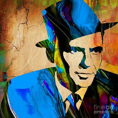 Frank Sinatra Mixed Media - Frank Sinatra My Way by Marvin Blaine