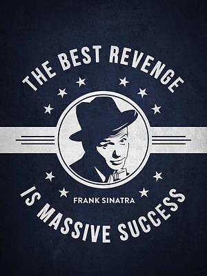 Frank Sinatra - Navy Blue Art Print