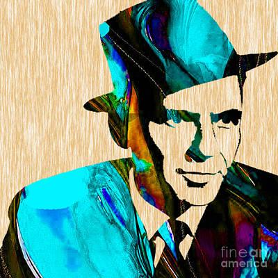 Frank Sinatra Mixed Media - Frank Sinatra Art by Marvin Blaine