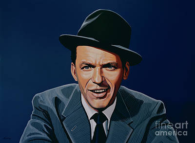 Jazz Legends Wall Art - Painting - Frank Sinatra by Paul Meijering