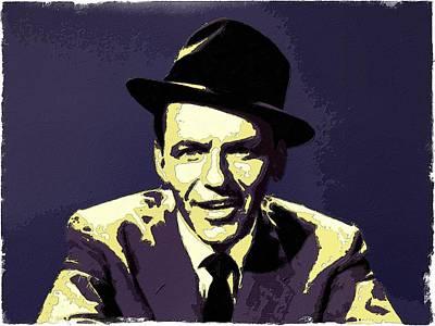 Painting - Frank Sinatra Portrait Art by Florian Rodarte