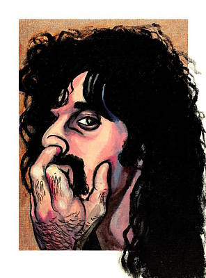 Wall Art - Painting - Frank Zappa by Adam B Cook