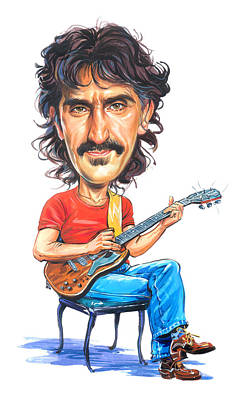Comics Royalty-Free and Rights-Managed Images - Frank Zappa by Art