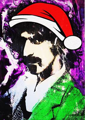 Captain Beefheart Painting - Frank Zappa Christmas by Doug Robinson