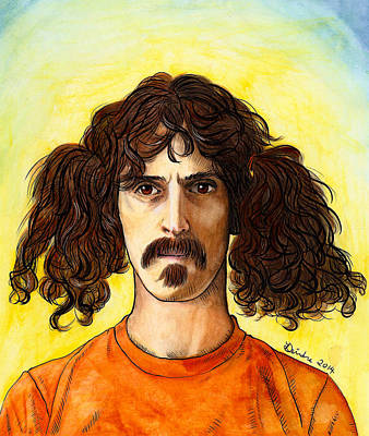 Mixed Media - Frank Zappa by Deirdre DeLay