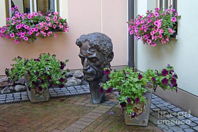 Photograph - Frank Zappa In Uzupis Vilnius Lithuania by Ausra Huntington nee Paulauskaite