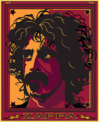 Frank Zappa Art Print by Larry Butterworth