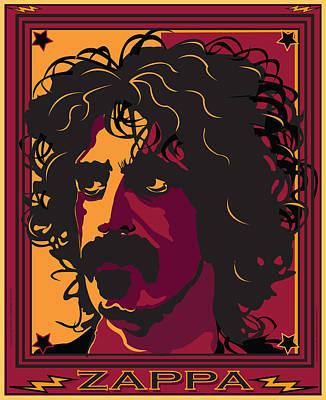 Celebrities Digital Art - Frank Zappa by Larry Butterworth