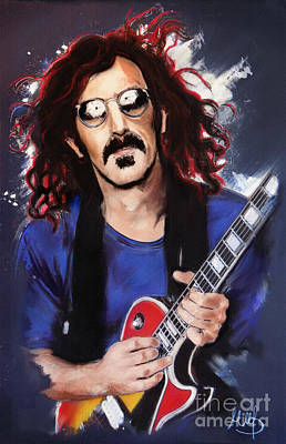 Classical Mixed Media - Frank Zappa by Melanie D