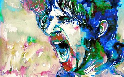 Frank Zappa  Portrait.4 Art Print by Fabrizio Cassetta