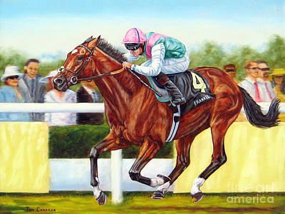 Horse Racing Painting - Frankel Winning At Royal Ascot by Tom Chapman