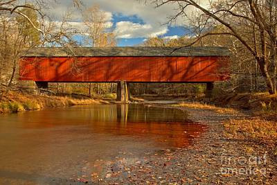 Photograph - Frankenfield Bridge Across Tinicum Creek by Adam Jewell
