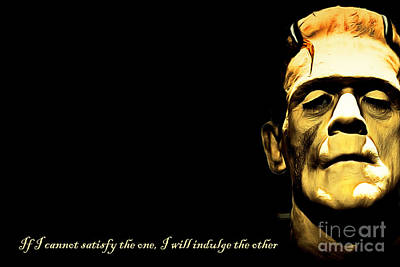 Portraits Digital Art - Frankenstein 20140921brunaille Horizontal With Text V2 by Wingsdomain Art and Photography
